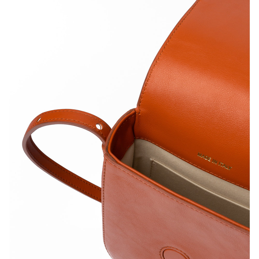BURNT ORANGE MINI CROSSBODY
