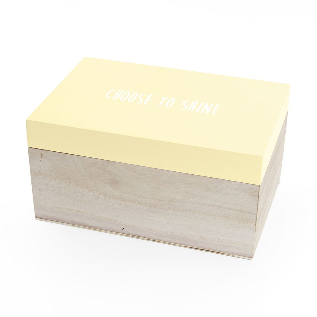 Choose to shine storage box