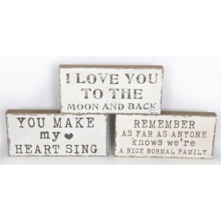 Chunky wooden plaque