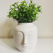 Load image into Gallery viewer, Ceramic face vase / planter