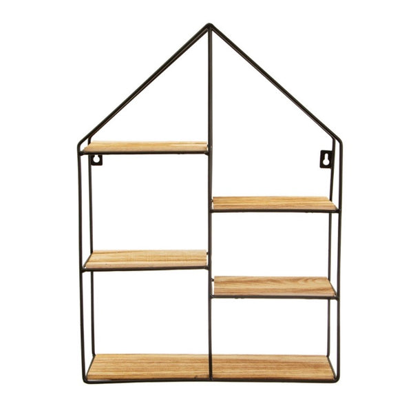 Black wire house shelf