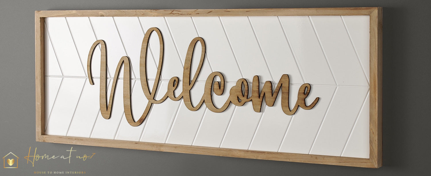 Welcome plaque - Extra Large