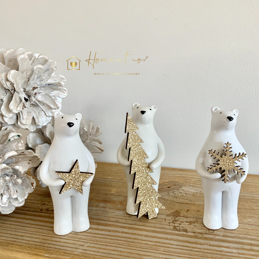 Decorative Resin Polar Bears