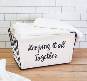 Keeping it all together storage basket