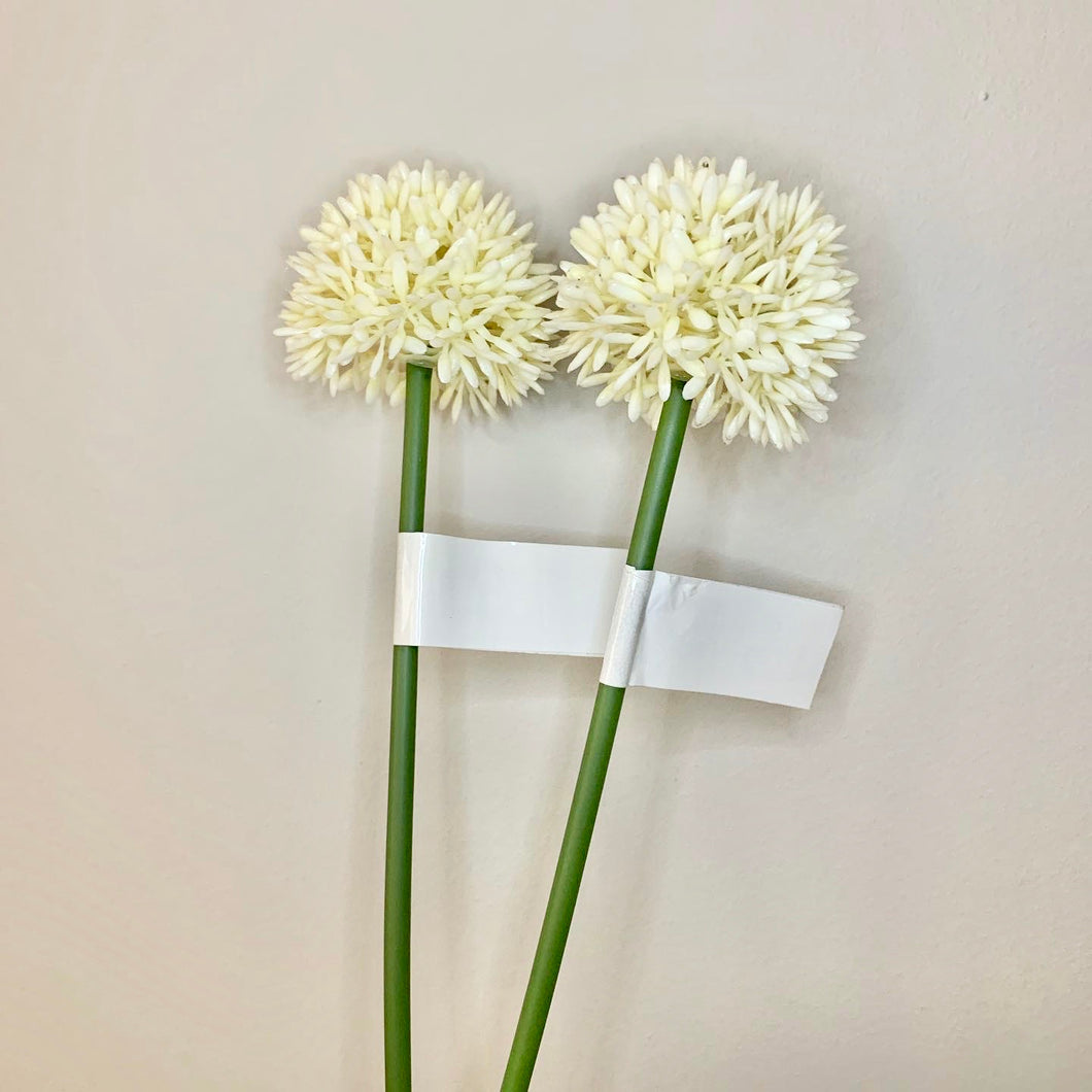 Single plastic mini Allium stem