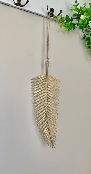 Gold palm leaf hanging decoration