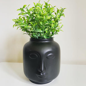 Ceramic face vase / planter