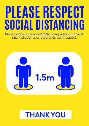 A2 Corflute Social Distancing Sign.