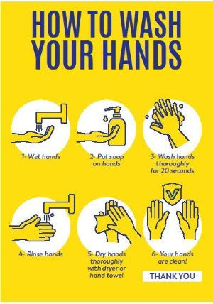 A3 Poster How to Wash your Hands A3 Poster