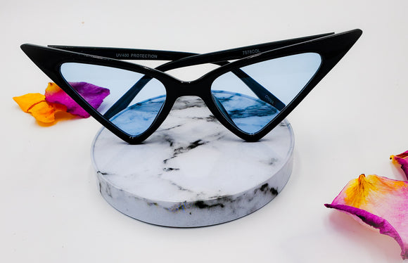 Blue Extreme Cat Eye Frames