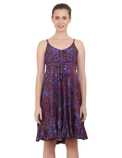 Women's Bohemian Inspired Casual Top Short Dresses in Two Sizes (P82)