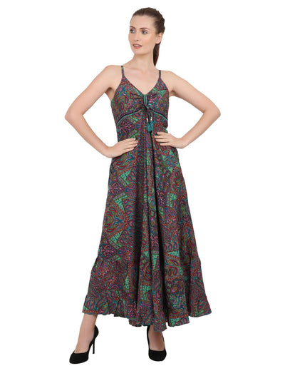Women Casual Boho Style Maxi Dresses in Two Sizes (P83)