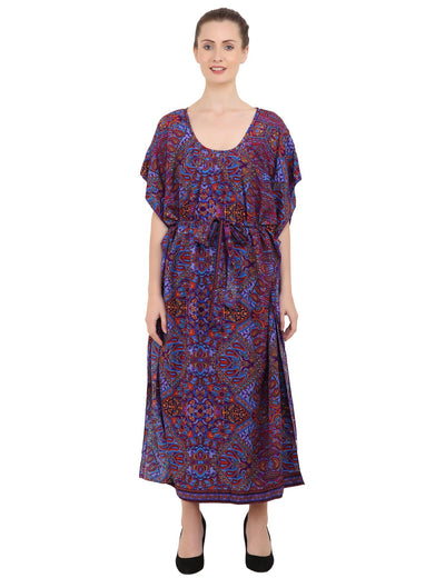 Ethnic Inspired Prints Women's Kaftan Dresses - One Size (P82)