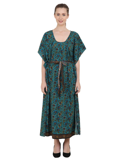 Ethnic Inspired Prints Women's Kaftan Dresses - One Size (P393)