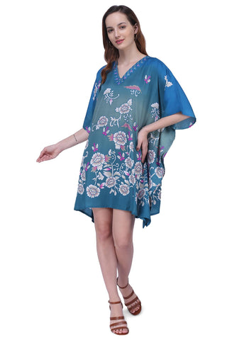 Women's Kaftan Suitable for Standard to Plus Size 159-Teal