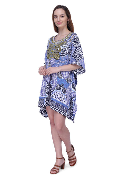 Women's Kaftan Suitable for Standard to Plus Size 158-Blue