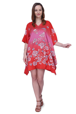 Women's Kaftan Suitable for Standard to Plus Size 159-Red