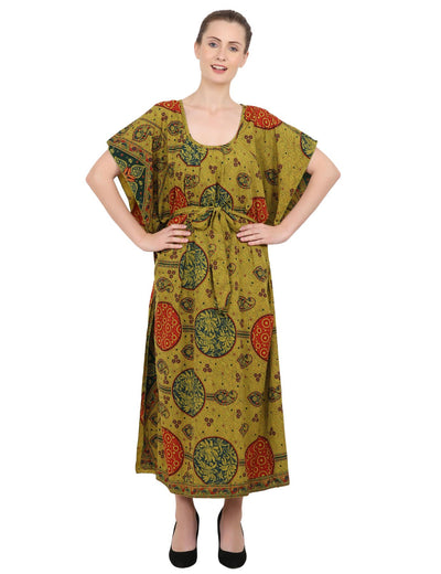 Ethnic Inspired Prints Women's Kaftan Dresses - One Size (P314)