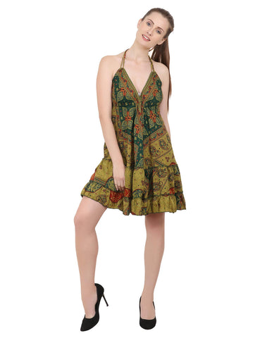Women's Short Dresses Bohemian Inspired Casual Top - One Size (P314)