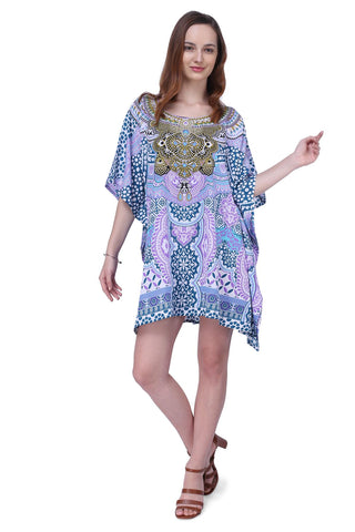 Women's Kaftan Suitable for Standard to Plus Size 158-Teal