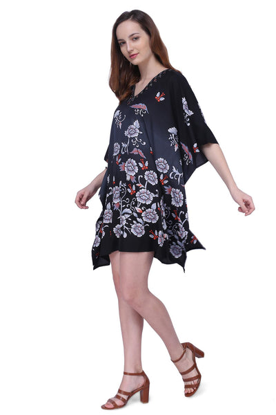 Women's Kaftan Suitable for Standard to Plus Size 159-Black