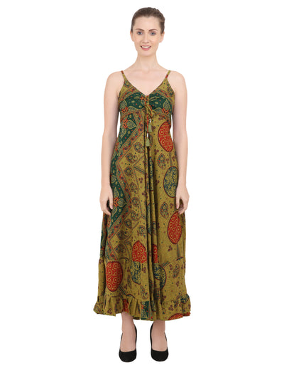 Women Casual Boho Style Maxi Dresses in Two Sizes (P314)