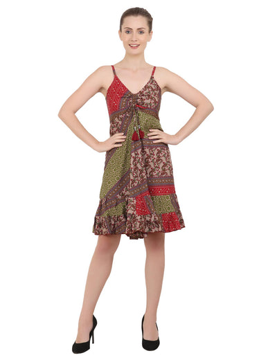 Women's Bohemian Inspired Casual Top Short Dresses in Two Sizes (P325)