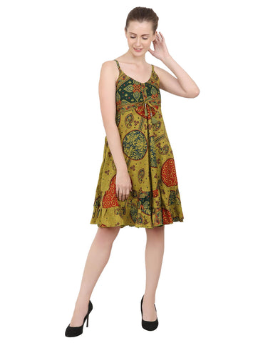 Women's Bohemian Inspired Casual Top Short Dresses in Two Sizes (P314)