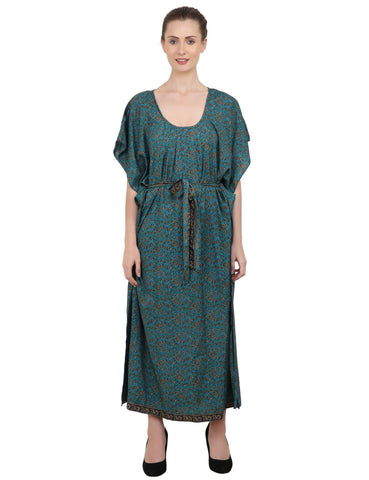 Ethnic Inspired Prints Women's Kaftan Dresses - One Size (P414)