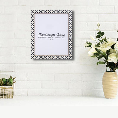 8x10 Picture Frame Moroccan Pattern Photo Frames - Black