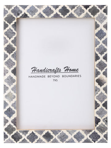 5x7 Picture Frame Moroccan Pattern Photo Frames - Grey