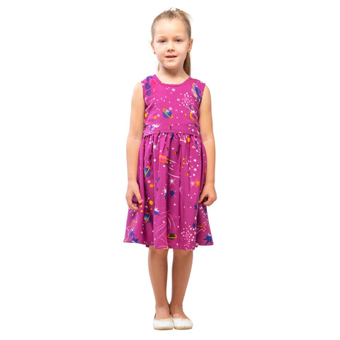 Girls Kids Vintage Audrey Hepburn Style sizes Galaxy Purple Age 3 – 12 Years