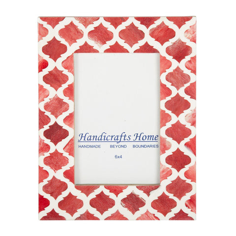 4x6'' Picture Moroccan Pattern Photo Frames - Red