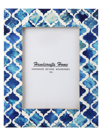 5x7'' Picture Moroccan Pattern Photo Frames - Blue