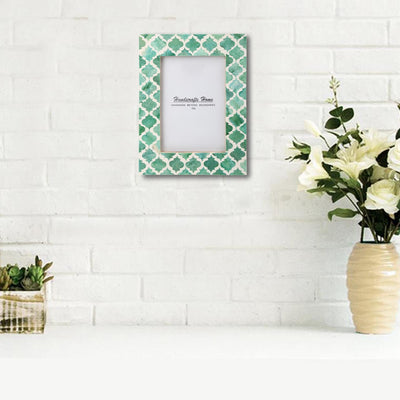 5x7'' Picture Moroccan Pattern Photo Frames - Green