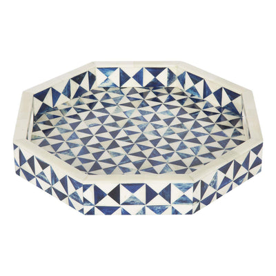 "12x12"" Octagon Decorative Tray Breakfast Coffee Table Top Serving Tray"