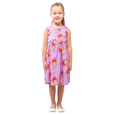 Girls Kids Vintage Audrey Hepburn Style sizes Butterfly Purple Age 3 – 12 Years