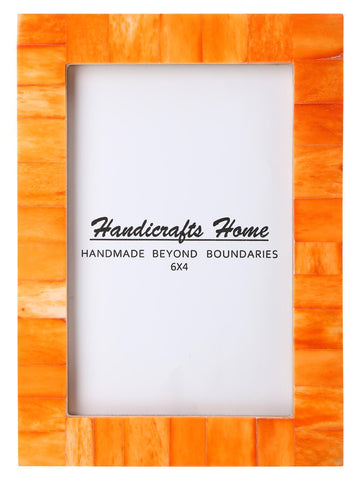 4x6 Photo Frames Handmade Chic Picture Frame - Orange