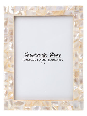 5x7 Photo Frames Mother of Pearl Picture Frame - White