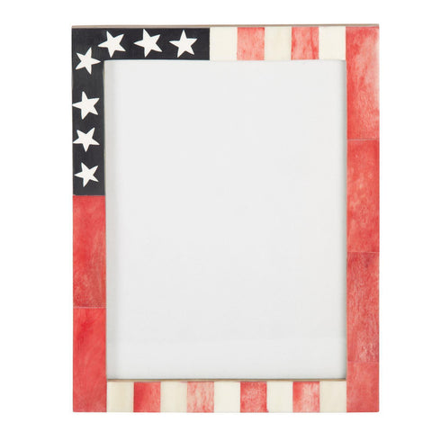 USA American Flag Picture Photo Frame Handmade Souvenirs - 6x8 Inches