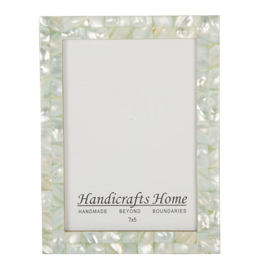 5x7 Photo Frames Mother of Pearl Picture Frame - Green