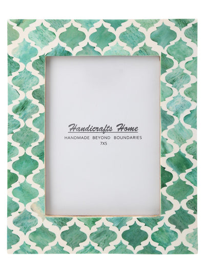 5x7 Photo Frames Moroccan Pattern Picture Frames - Green