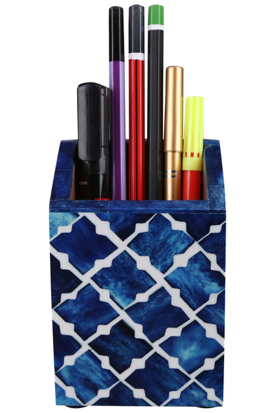 Pen Holder Moroccan Art Inspired Caddy Pencil Cup - Quatrefoil