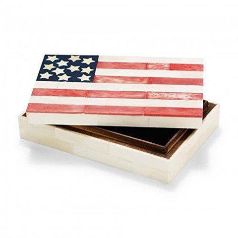 American Flag up Decorative Souvenirs Jewelry Box Medium