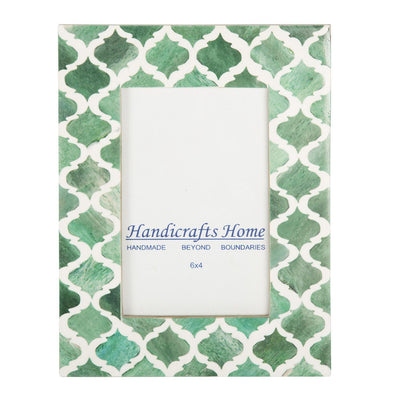 4x6'' Picture Moroccan Pattern Photo Frames - Green