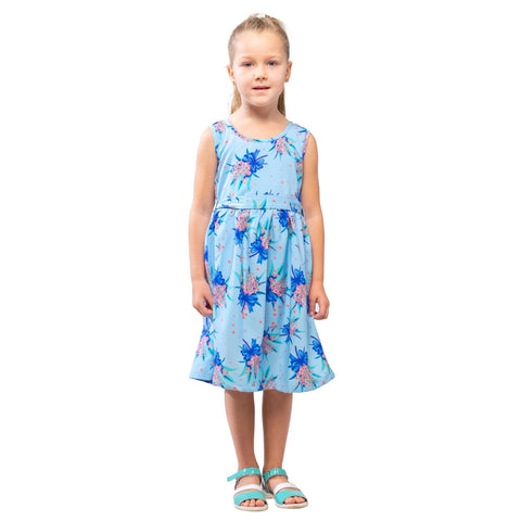 Girls Kids Vintage Audrey Hepburn Style sizes Butterfly Blue Age 3 – 12 Years