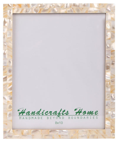 8x10 Photo Frames Mother of Pearl Picture Frame - White