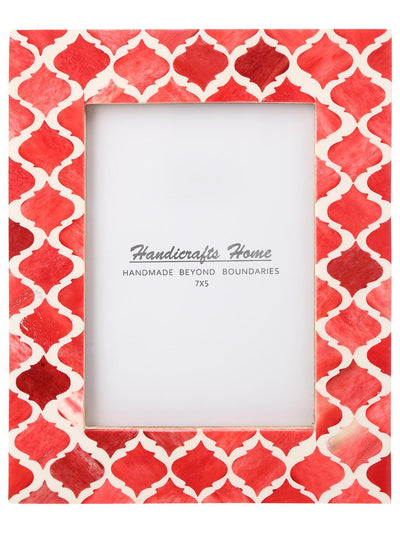 5x7 Photo Frames Moroccan Pattern Picture Frames - Red
