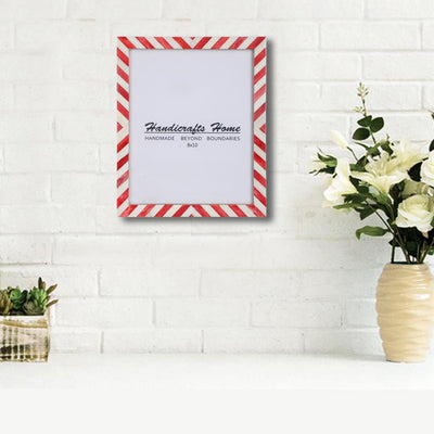8x10 Picture Frame Chevron Pattern Photo Frames - Red