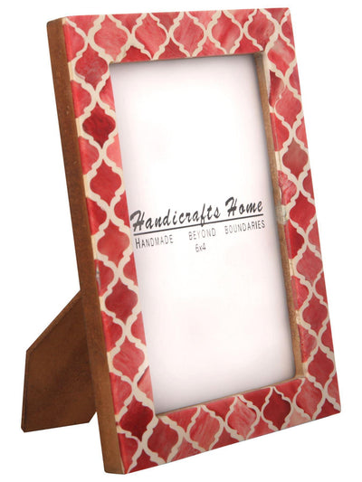 4x6 Picture Frame Moroccan Pattern Photo Frames - Red